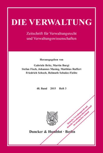 Cover: Deutsches Verwaltungsrecht und deutsche Verwaltungsrechtswissenschaft im europäischen Ausland
