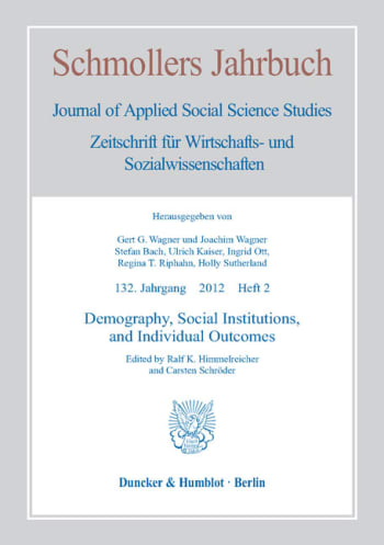 Cover: Demography, Social Institutions, and Individual Outcomes