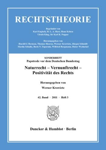 Cover: Naturrecht – Vernunftrecht – Positivität des Rechts