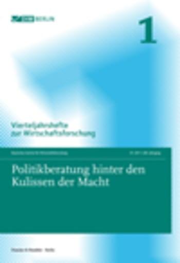 Cover: Politikberatung hinter den Kulissen der Macht