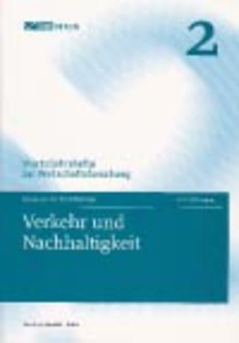 Cover: Verkehr und Nachhaltigkeit