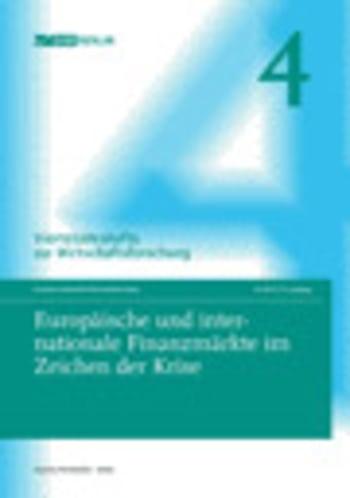 Cover: Europäische und internationale Finanzmärkte im Zeichen der Krise