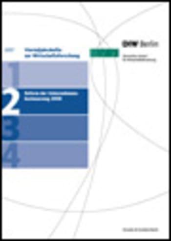 Cover: Reform der Unternehmensbesteuerung 2008