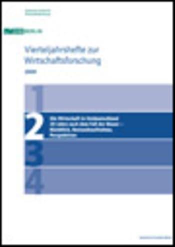 Cover: Die Wirtschaft in Ostdeutschland 20 Jahre nach dem Fall der Mauer – Rückblick, Bestandsaufnahme, Perspektiven
