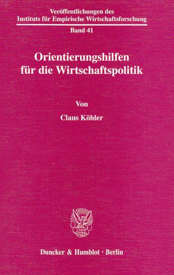 Cover: Veröffentlichungen des Instituts für Empirische Wirtschaftsforschung (IEW)