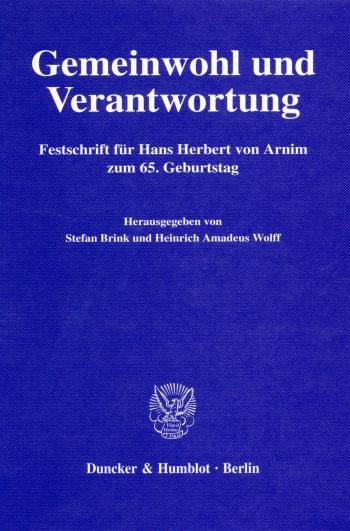Cover: Gemeinwohl und Verantwortung