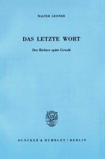 Cover: Das letzte Wort