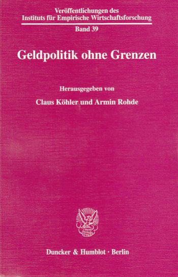 Cover: Geldpolitik ohne Grenzen