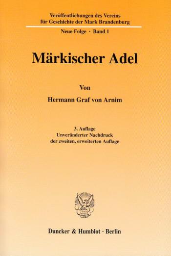 Cover: Veröffentlichungen des Vereins für Geschichte der Mark Brandenburg. Neue Folge (GMB)