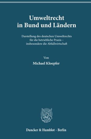 Cover: Umweltrecht in Bund und Ländern