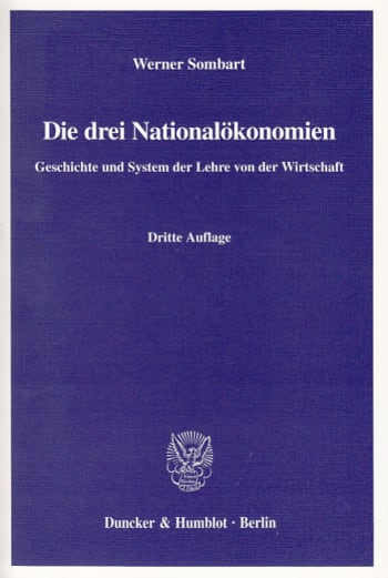Cover: Die drei Nationalökonomien
