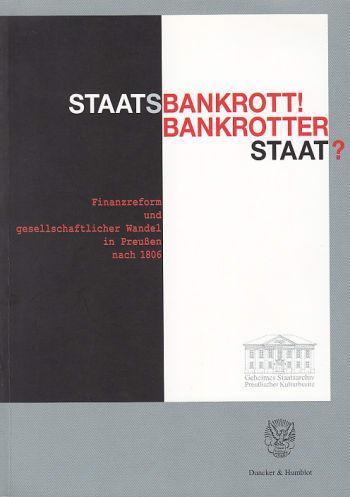 Cover: Staatsbankrott! Bankrotter Staat?