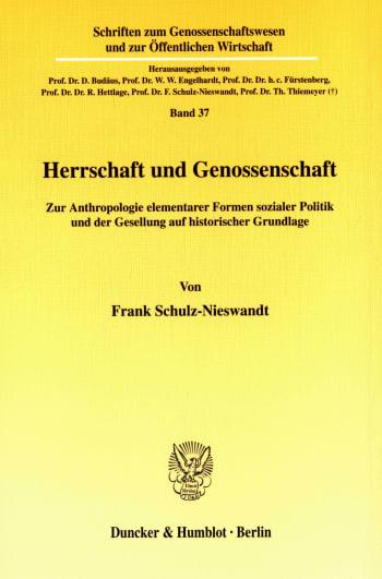 Cover: Herrschaft und Genossenschaft