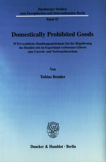 Cover: Domestically Prohibited Goods