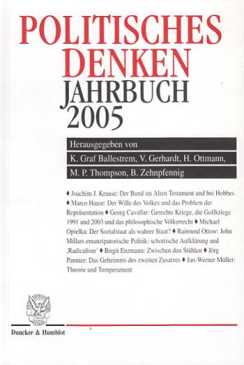 Cover: Politisches Denken. Jahrbuch 2005