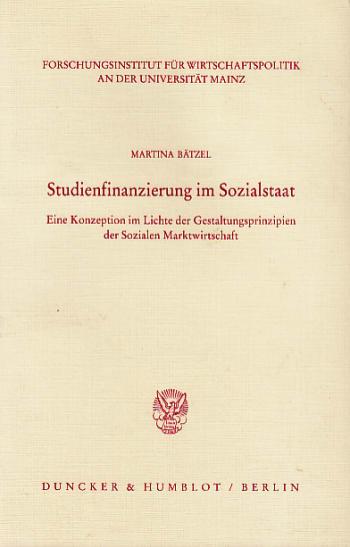 Cover: Veröffentlichungen des Forschungsinstituts für Wirtschaftspolitik an der Universität Mainz (FW)
