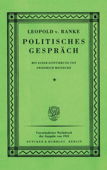 Cover: Politisches Gespräch