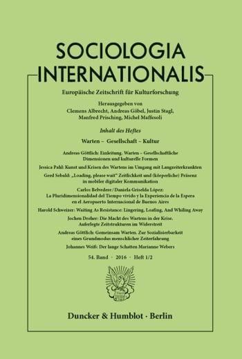 Cover: Warten – Gesellschaft – Kultur