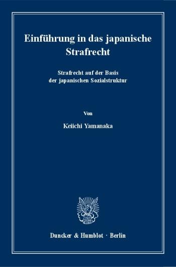 Cover: Einführung in das japanische Strafrecht