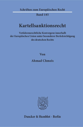 Cover: Kartellsanktionsrecht