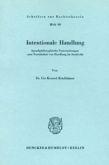 Cover: Intentionale Handlung