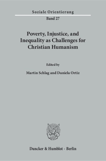 Cover: Poverty, Injustice, and Inequality as Challenges for Christian Humanism