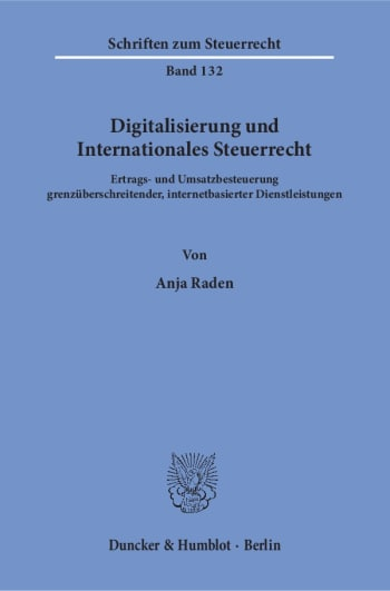 Cover: Digitalisierung und Internationales Steuerrecht