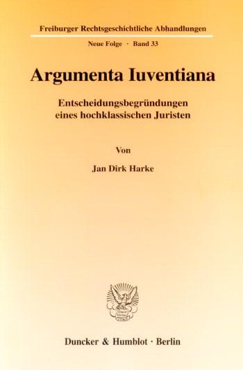 Cover: Argumenta Iuventiana