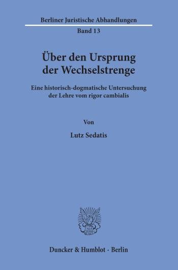 Cover: Über den Ursprung der Wechselstrenge