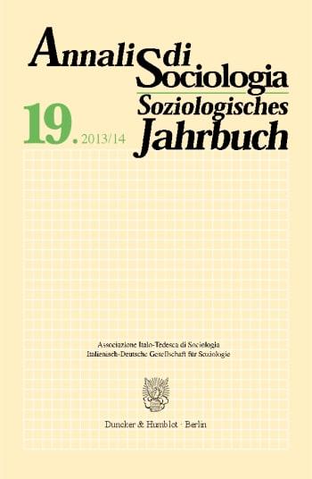 Cover: Annali di Sociologia / Soziologisches Jahrbuch (SOZ.JB.)
