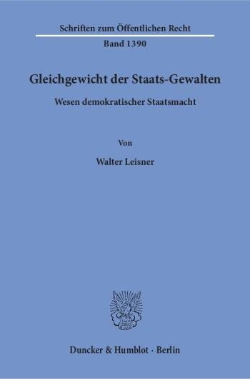 Cover: Gleichgewicht der Staats-Gewalten
