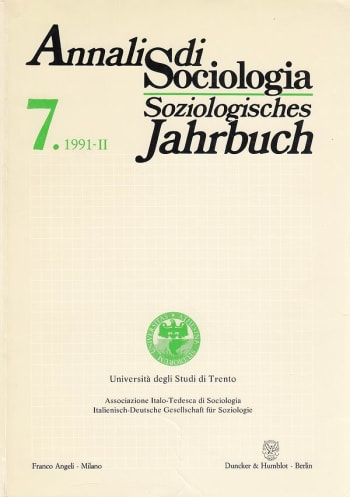 Cover: Annali di Sociologia / Soziologisches Jahrbuch