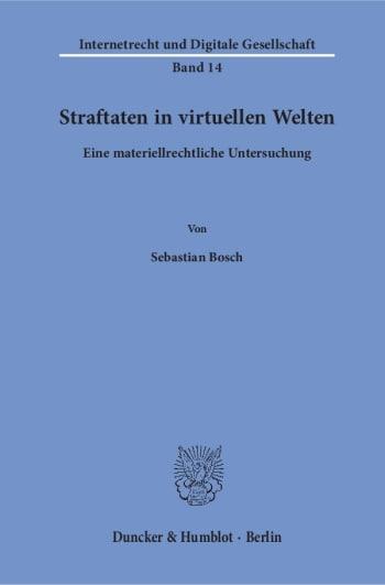 Cover: Straftaten in virtuellen Welten<br/>