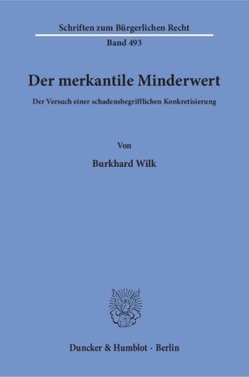 Cover: Der merkantile Minderwert