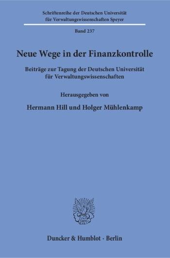 Cover: Neue Wege in der Finanzkontrolle