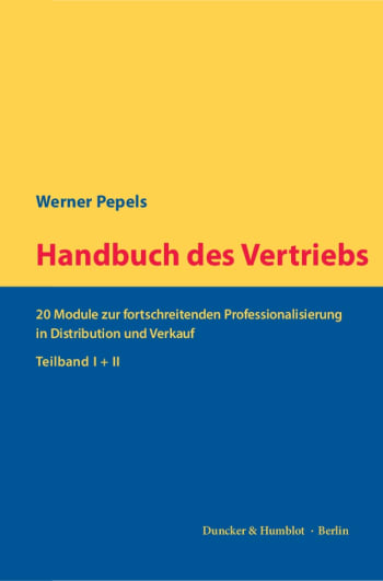 Cover: Handbuch des Vertriebs
