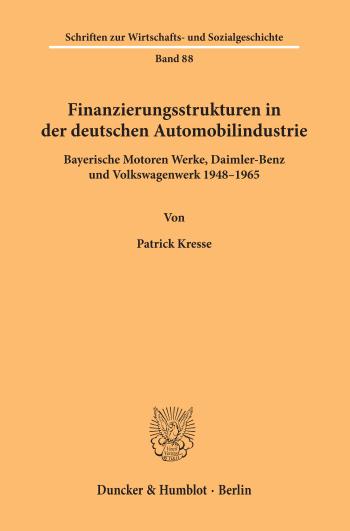 Cover: Schriften zur Wirtschafts- und Sozialgeschichte (SWS)