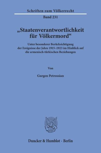 Cover: »Staatenverantwortlichkeit für Völkermord«