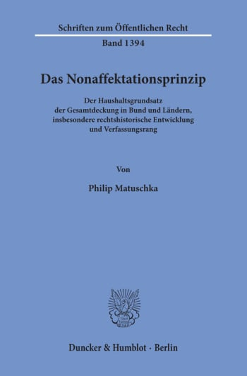 Cover: Das Nonaffektationsprinzip