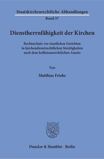 Cover: Dienstherrnfähigkeit der Kirchen