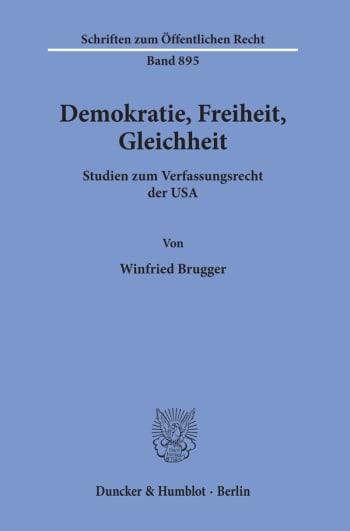 Cover: Demokratie, Freiheit, Gleichheit