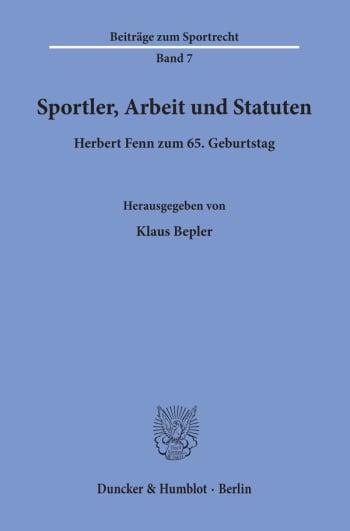 Cover: Sportler, Arbeit und Statuten