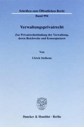 Cover: Verwaltungsprivatrecht