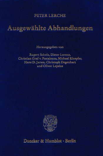 Cover: Ausgewählte Abhandlungen