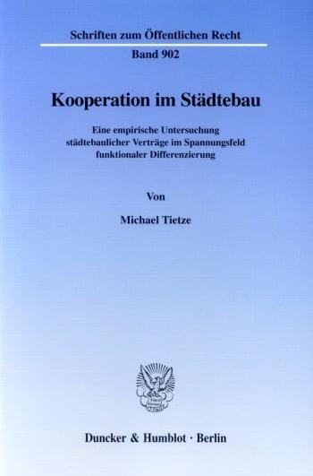 Cover: Kooperation im Städtebau