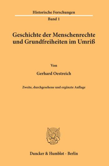 Cover: Geschichte der Menschenrechte und Grundfreiheiten im Umriß