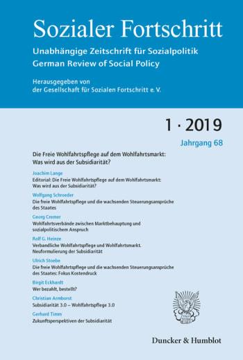 Cover: Die Freie Wohlfahrtspflege auf dem Wohlfahrtsmarkt: Was wird aus der Subsidiarität?