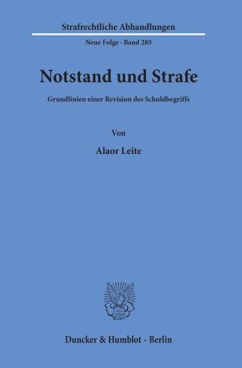 Cover: Notstand und Strafe