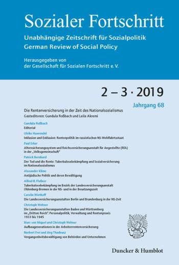 Cover: Die Rentenversicherung in der Zeit des Nationalsozialismus