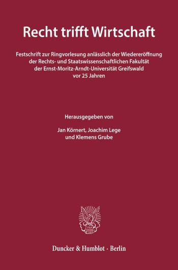Cover: Recht trifft Wirtschaft